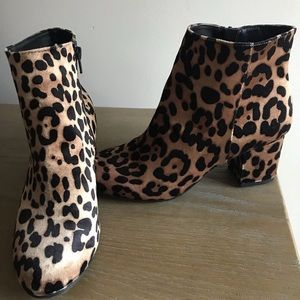 Leopard cheetah print booties 8